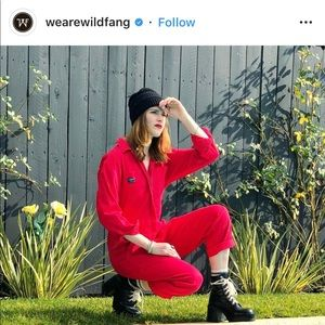Wildfang red coveralls